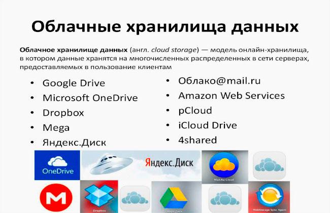 Бесплатные облачные хранилища данных