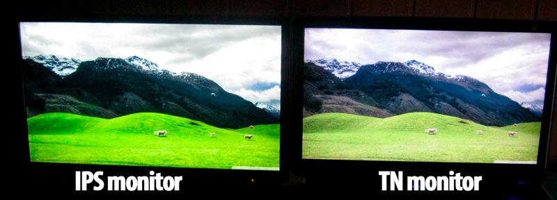Различия изображения в игре ips и va монитора