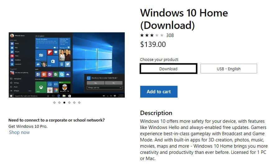 Windows 10 Домашняя Скачать